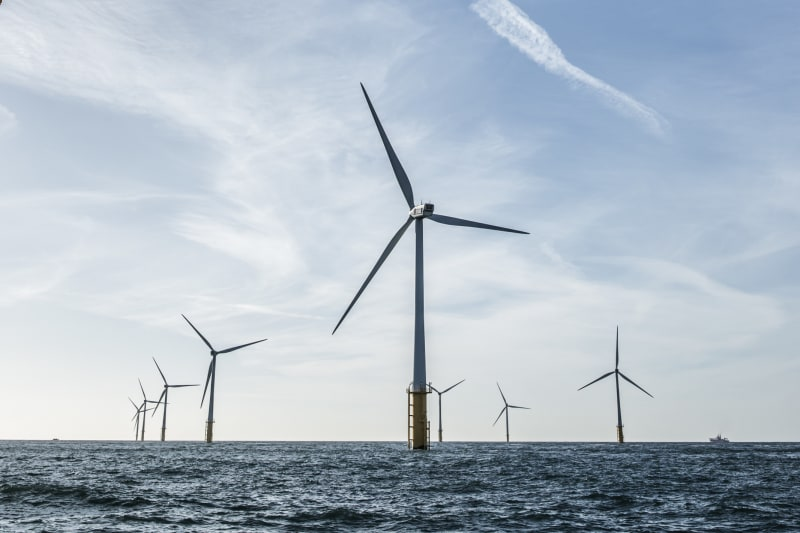 Windturbines in de zee