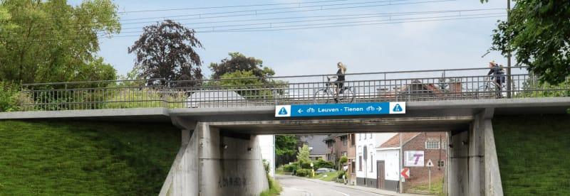 Zicht op een fietssnelweg