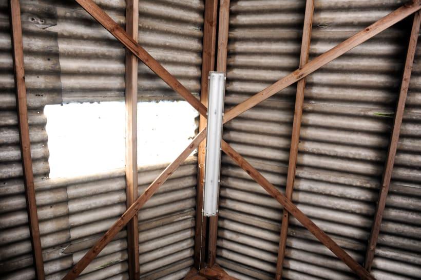Dak van asbestplaten