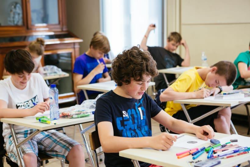 Leerlingen van het secundair onderwijs in de klas