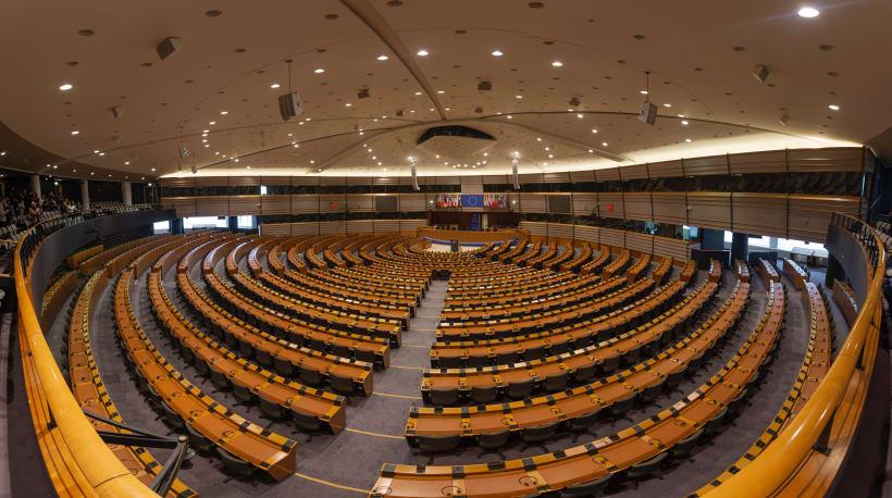 Interieur van het Europees Parlement